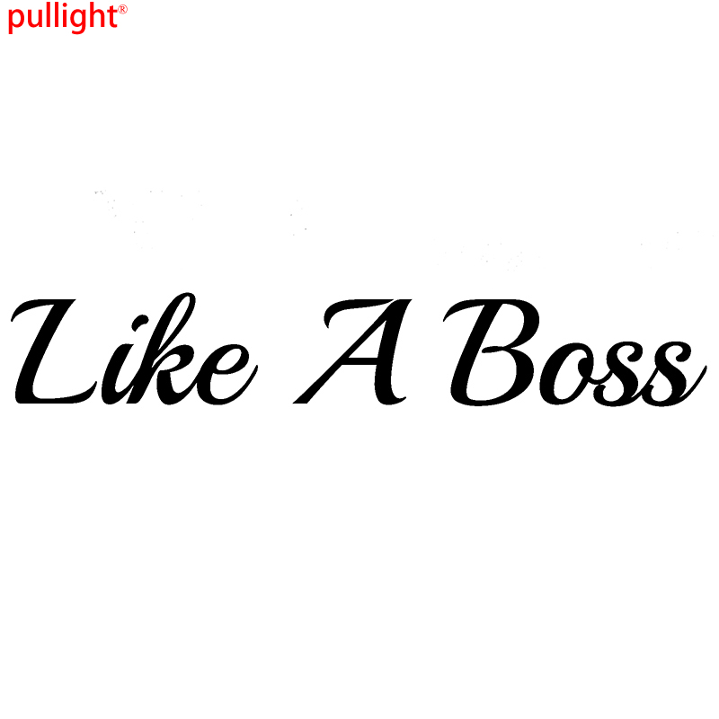 Like a Boss Komik Araba Çıkartması Drift Pencere Tampon Sticker JDM Grafik