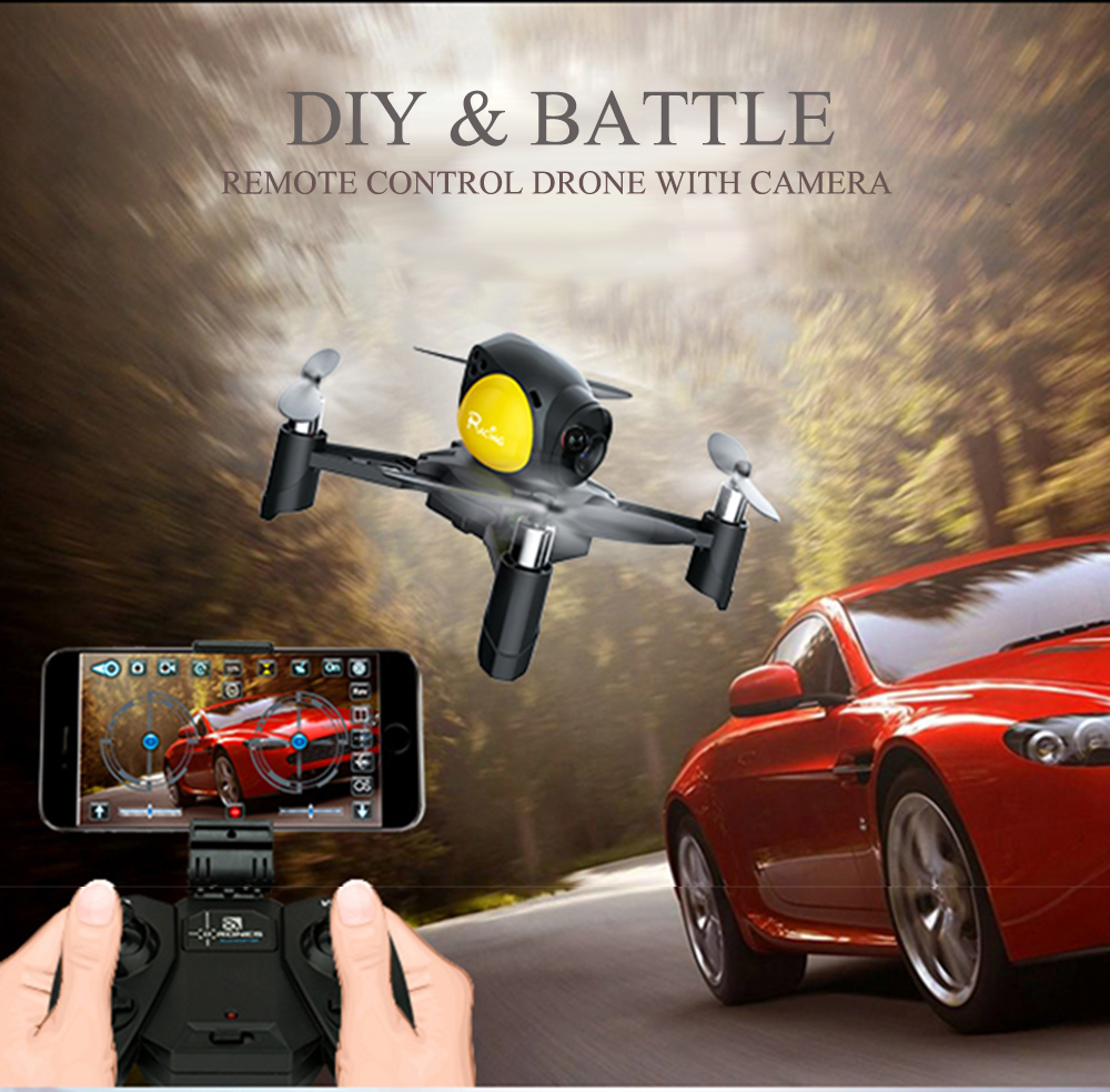 RC MINI Drone ile HD 2.0mp/0.3mp Wifi Kamera Uzaktan kumanda DIY savaş Dron APP Kontrol Quadcopter VS 8807 8807 W RC Özçekim Dron