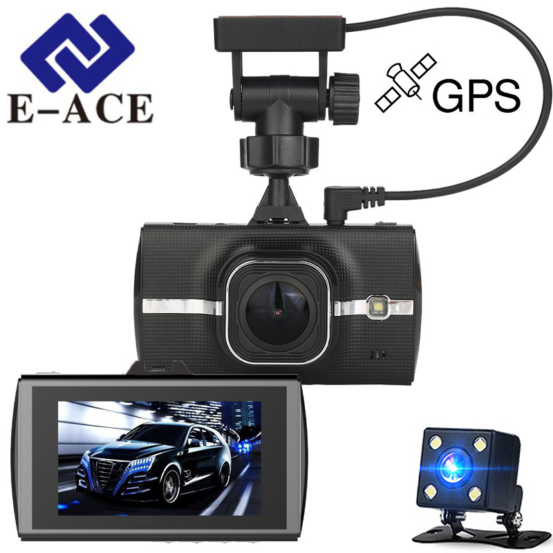 E-ACE 3.0 araba Dvr Full HD 1080 P Video Kaydedici Araba Kamera ile GPS Modülü Dikiz Aynası Oto Dashcam Mini GPS Tracker kamera