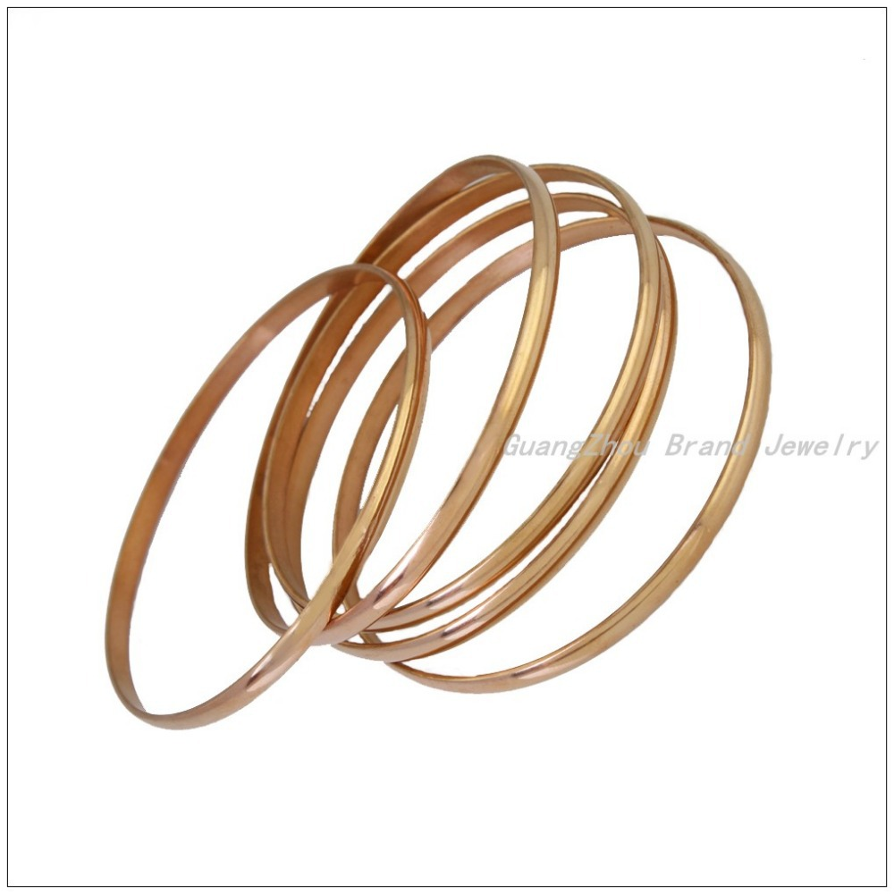 Promotion Sale 5pcs/Sets 316L Stainless Steel Rose Gold color Bangles For Women&Girl,Hot Fashion Women&39;s Bracelets Jewelry